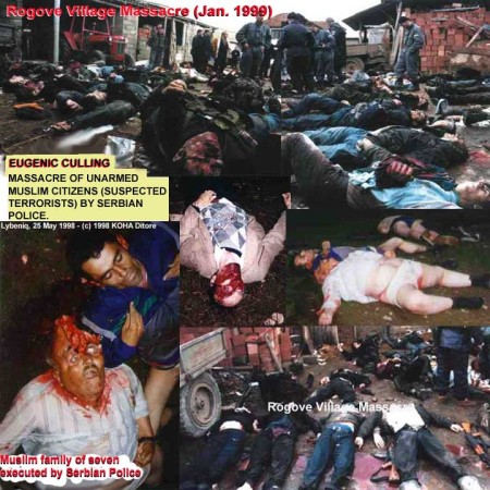 Massacre of unarmed Muslim citizens by Serbian Police