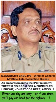 Boobathi Babu, IPS - Anti Corruption Bureau