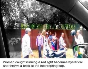 Hysterical Traffic Law Violator